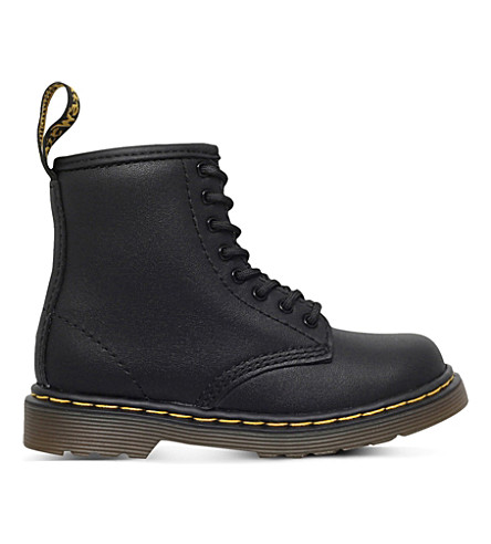 DR MARTENS Brooklee leather boots 3-5 years (Black