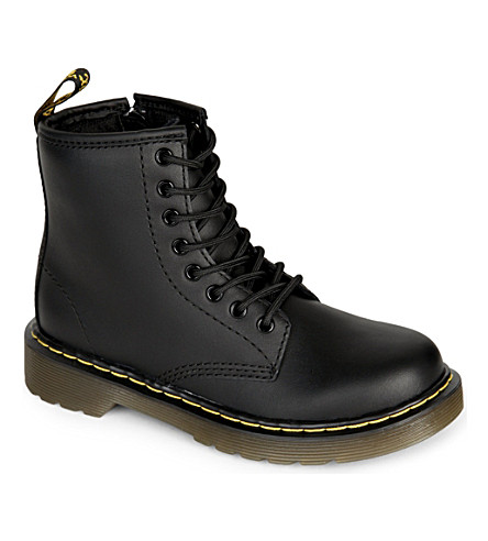 DR MARTENS Delaney leather boots 6-9 years (Black