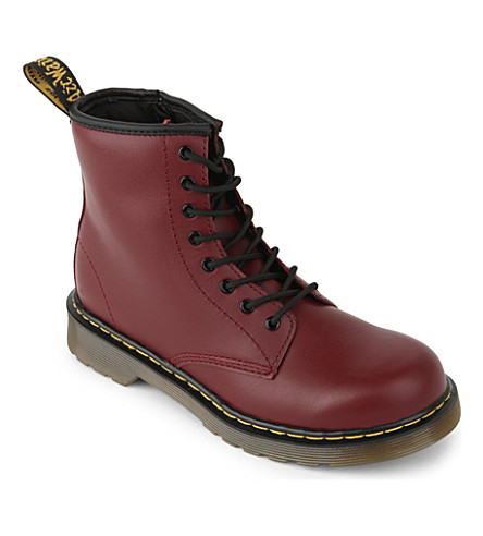 DR MARTENS Juniors Delaney leather boots 6-9 years (Red/dark