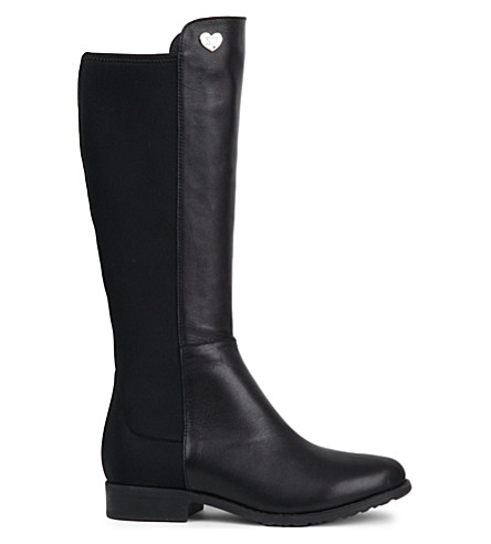 STUART WEITZMAN 50/50 faux-leather boots 6-10 years (Black