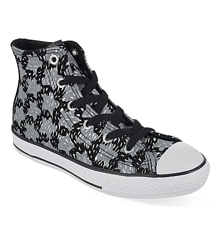 CONVERSE Chuck Taylor All Star star print high-tops 6-9 years (Black