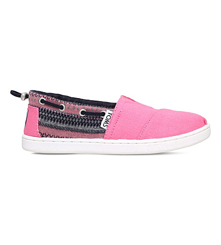 TOMS Bimini canvas shoes 7-12 years (Pink