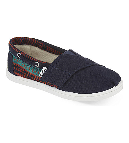 TOMS Bimini canvas shoes 2-7 years (Navy