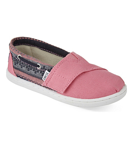 TOMS Bimini canvas shoes 2-7 years (Pink