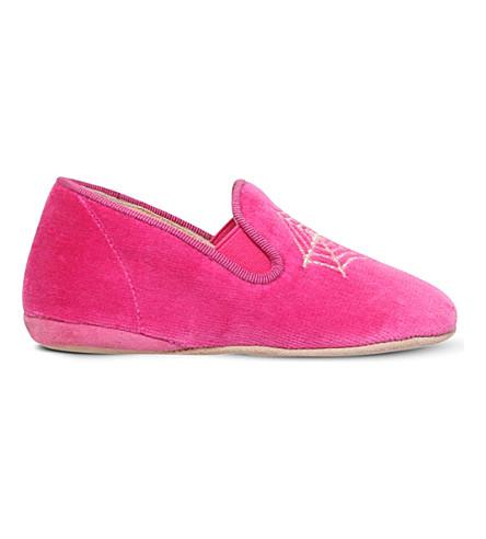 CHARLOTTE OLYMPIA Wincy velvet slippers 6months - 3years (Fushia