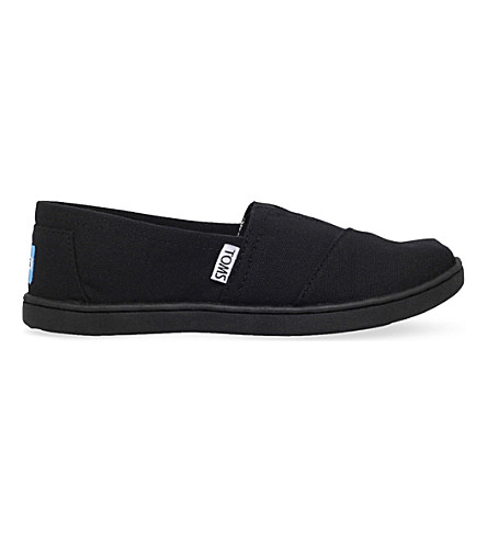 TOMS Classic canvas shoes 6-11 years (Black
