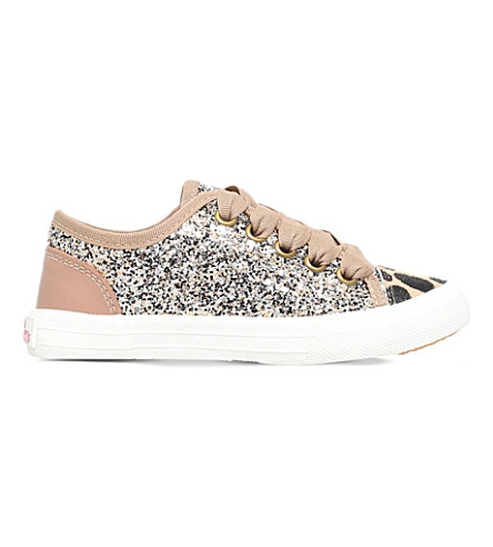 MINI MISS KG Mini Lucca glitter trainers 5-7 years (Gold