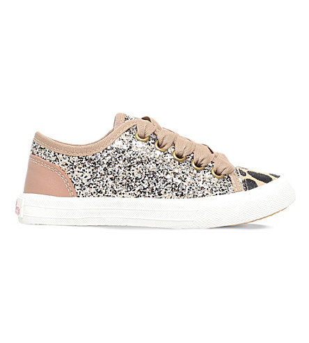 MINI MISS KG Mini Lucca glitter trainers 7-11 years (Gold