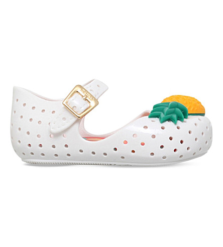 MINI MELISSA Furadinha Pineapple jelly shoes 6 months - 5 years (White