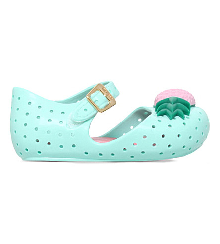 MINI MELISSA Furadinha VII jelly Mary Jane shoes 6 months-5 years (Turquoise