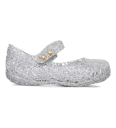 MINI MELISSA Campana zigzag jelly shoes 6 months - 5 years (Silver