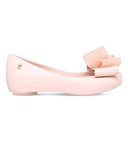 MINI MELISSA Ultragirl twin bow shoes 6-9 years (Pale pink