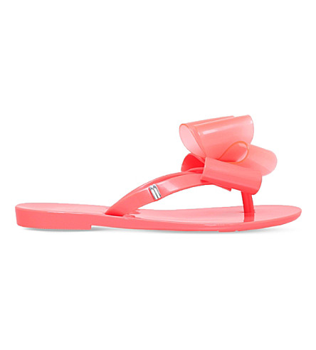 MINI MELISSA Harmonic twin-bow flip-flops 6-9 years (Red