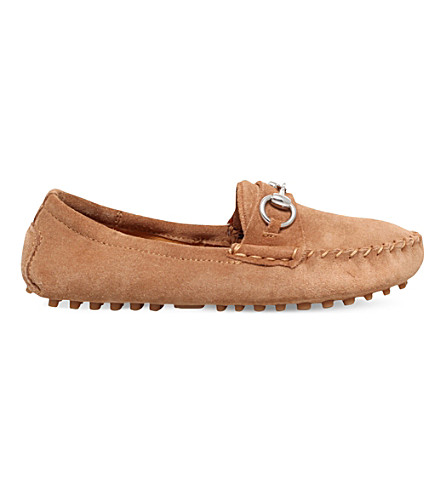 GUCCI Road suede loafers 3-4 years (Tan