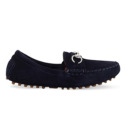 GUCCI Road suede loafers 3-4 years (Navy