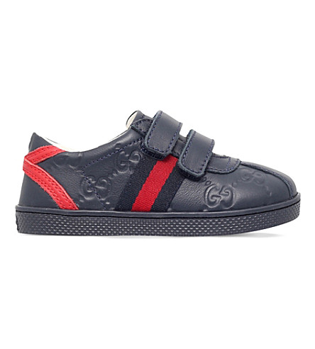 GUCCI Bambi leather trainers 6 months-4 years (Navy