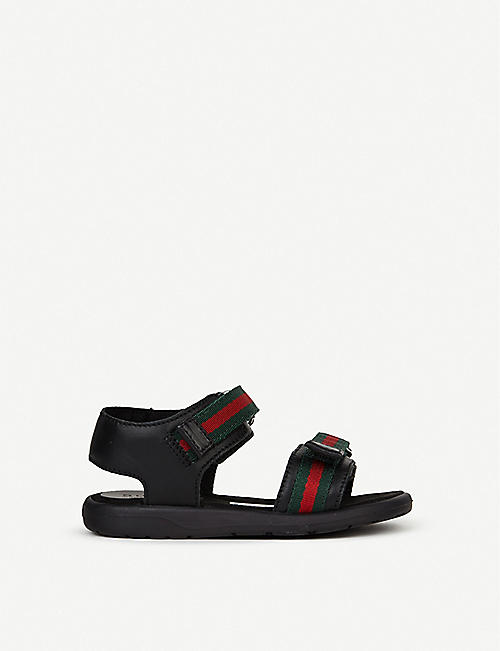 GUCCI Gaufrette leather sandals 1-4 years