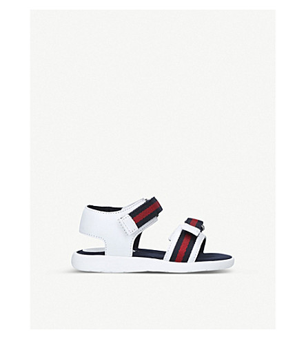 GUCCI Gauffrette leather sandals 2-4 years (White