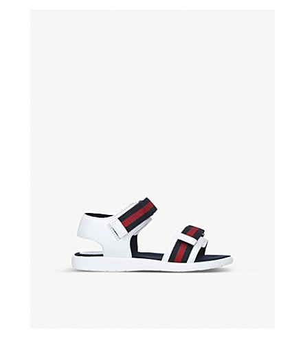 GUCCI Gauffrette leather sandals 4-8 years (White