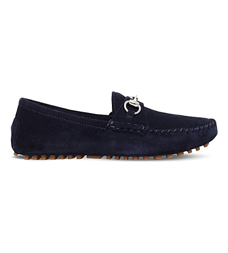 GUCCI Road horsebit suede loafers 4-8 years (Navy