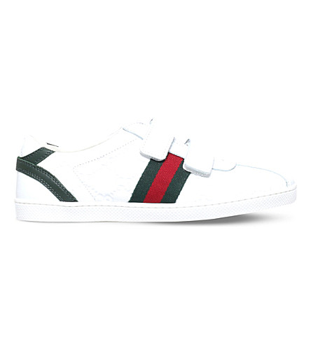 GUCCI Bambi vl leather trainers 8-10 years (White