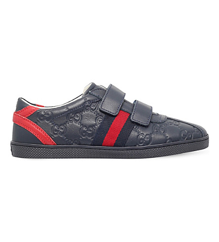 GUCCI Bambi leather sneakers 8-9 years (Navy