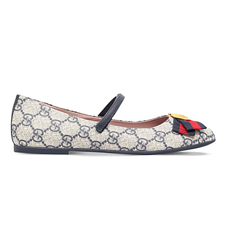 GUCCI Erin canvas ballet shoes 5-8 years (Navy