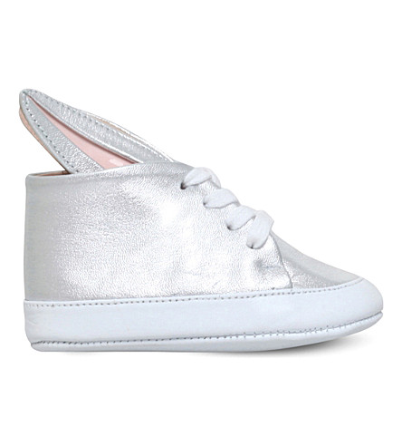MINNA PARIKKA Bunny metallic-leather trainers 0-6 months (Silver