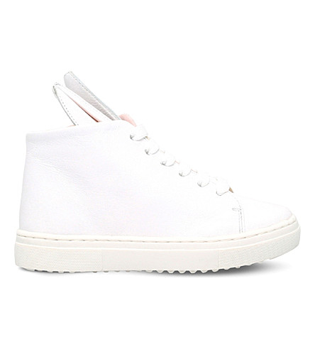 MINNA PARIKKA Bunny Sneaks leather trainers 2-9 years (White