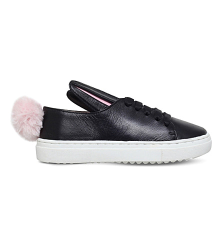 MINNA PARIKKA Tail sneaks leather trainers 3-7 years (Black