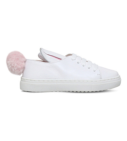 MINNA PARIKKA Tail sneaks leather trainers 3-7 years (White