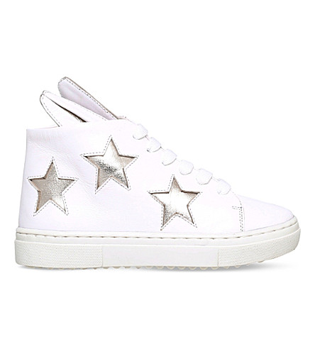 MINNA PARIKKA Superstar Bunny leather trainers 2-7 years (White/oth