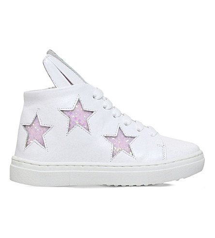MINNA PARIKKA Superstar bunny sneaks leather trainers 3-7 years (White/oth