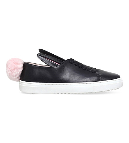 MINNA PARIKKA Tail leather sneakers 7-9 years (Black