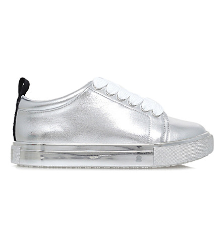 MINI MISS KG Run Wild low-top trainers 7-11 years (Silver