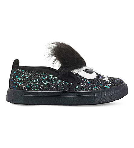 MINI MISS KG Roarsome glitter skate shoes 4-7 years (Black