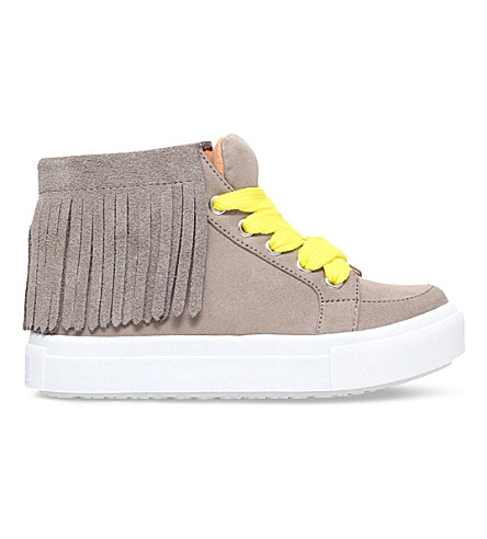 MINI MISS KG Fringe high-top suedette trainers 5 - 7 years (Taupe