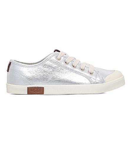 UGG Mikki metallic canvas sneakers 6-10 years (Silver