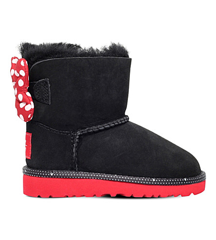 UGG UGG x Disney Sweetie bow sheepskin boots 7-8 years (Black