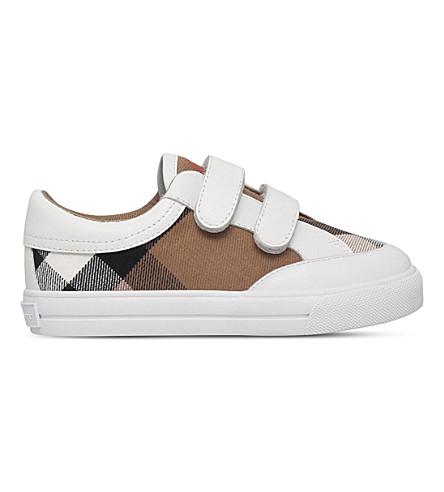 BURBERRY Mini Heacham canvas and leather 3-4 years (White