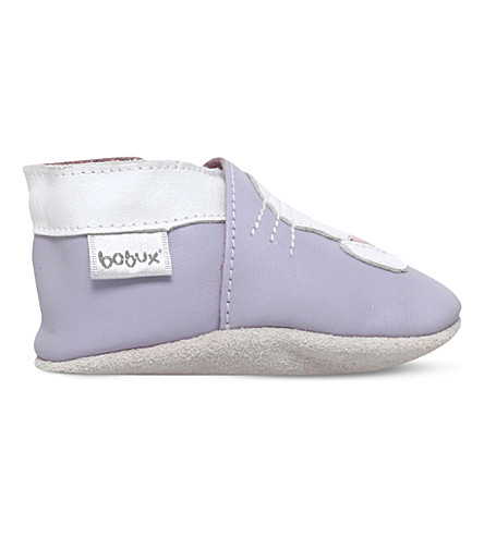 BOBUX Rabbit applique leather shoes 6 months-3 years (Lilac