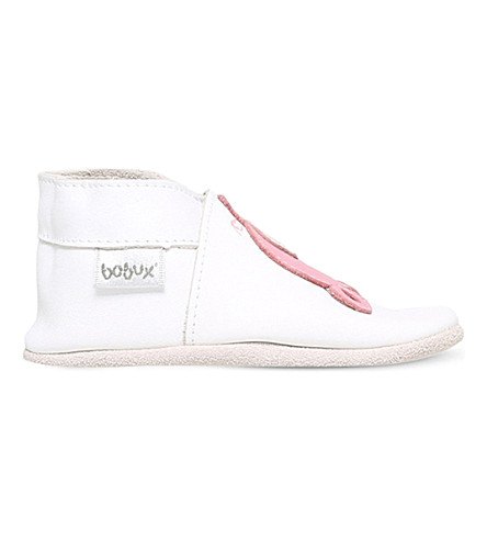 BOBUX Piglet applique leather shoes 6 months-3 years (White