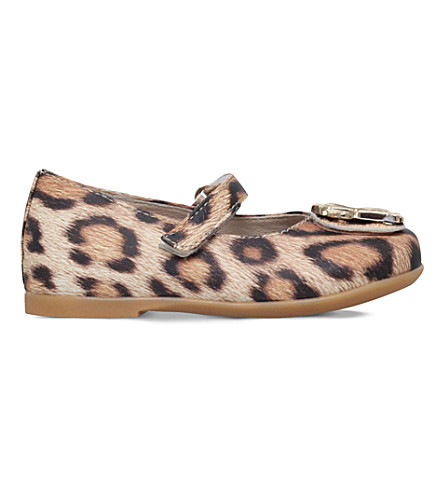 ROBERTO CAVALLI Leopard-print mary jane shoes 6 months - 4 years (Tan+comb