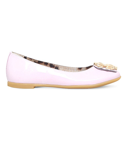 ROBERTO CAVALLI Patent leather ballet flats 4-9 years (Pale+pink