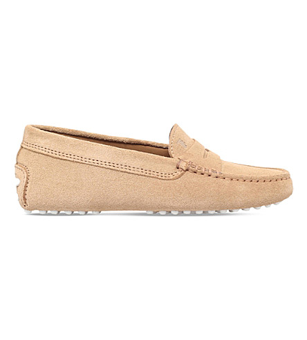 TODS Mocassino gommini suede driving shoes 6-9 years (Brown