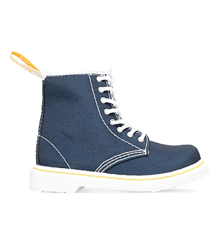 DR MARTENS Brooklee canvas boots 3.5-5 years (Navy