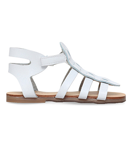 BABYWALKER Tia leather gladiator sandals 2-5 years (White