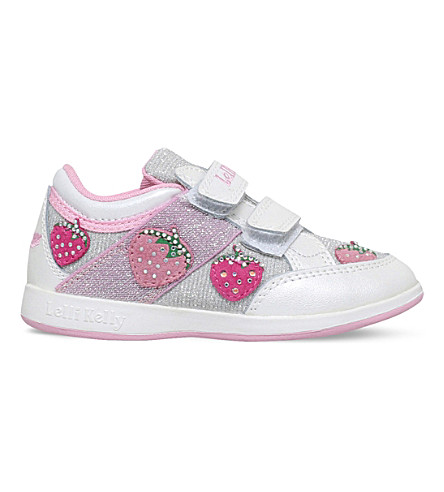 LELLI KELLY Fragola glitter and leather trainers 3-8 years (White