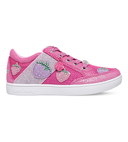 LELLI KELLY Fragola 2 mesh and leather trainers 4-9 years (Pink