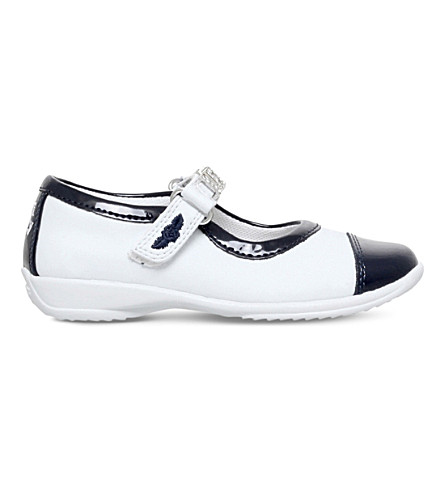 LELLI KELLY Bea patent Mary Jane shoes 3-9 years (White/navy